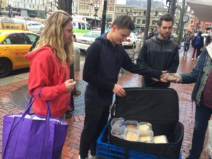 Feeding sandwiches in Cambridge
